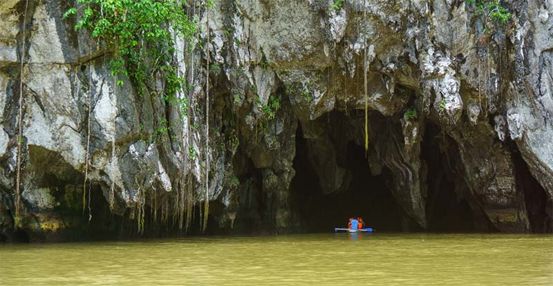 Underground river entrance