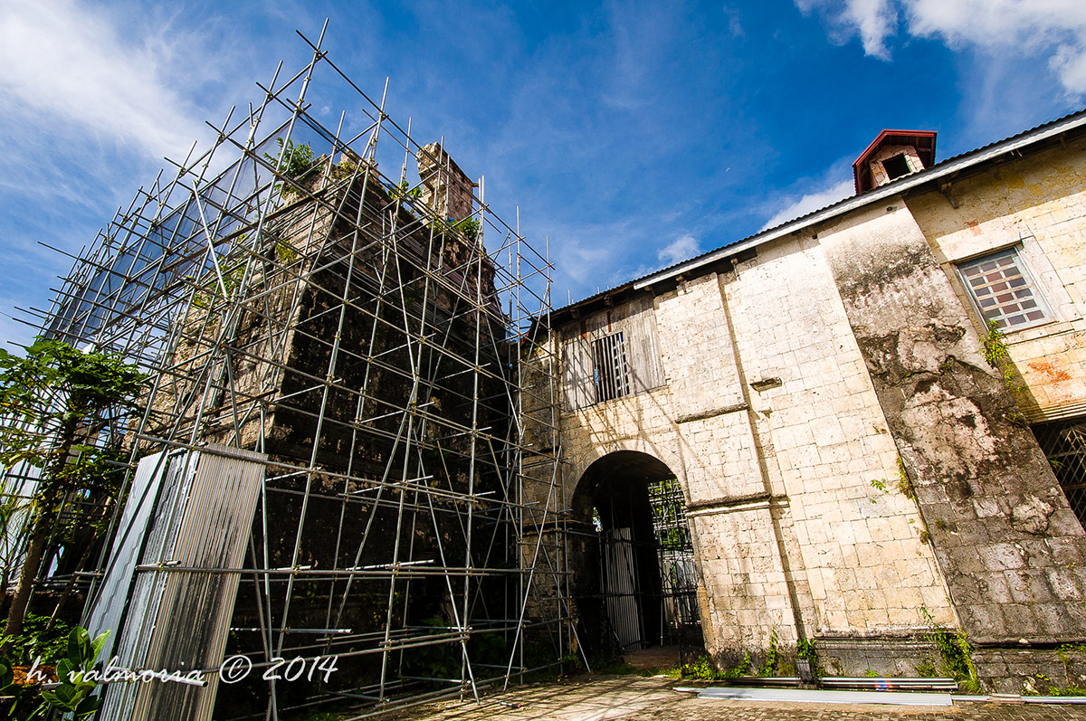 Baclayon Church under renovation